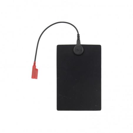 Elektrody do elektroterapii (12x8cm) oznaczenie czarne i czerwone - 2 sztuki
