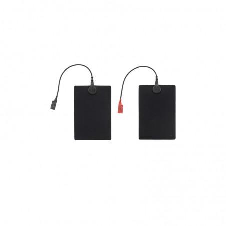 Elektrody do elektroterapii 12x8 cm ozn. czarne i czerwone