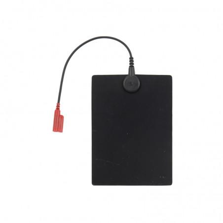 Elektrody do elektroterapii (15x11cm) oznaczenie czarne i czerwone - 2 sztuki