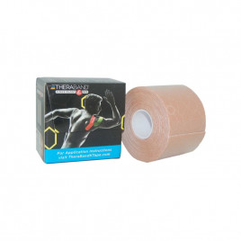 Kinesiology Tape Thera Band 5 cm x 31,4 m kolor beżowo-beżowy