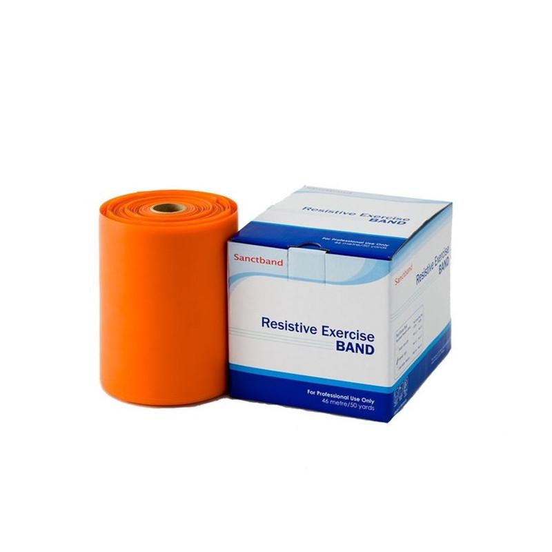 Taśma rehabilitacyjna Sanctband 1,5 m - pomarańczowa - opór lekki