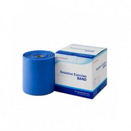 Taśma rehabilitacyjna Sanctband 1,5 m - niebieska - opór mocny