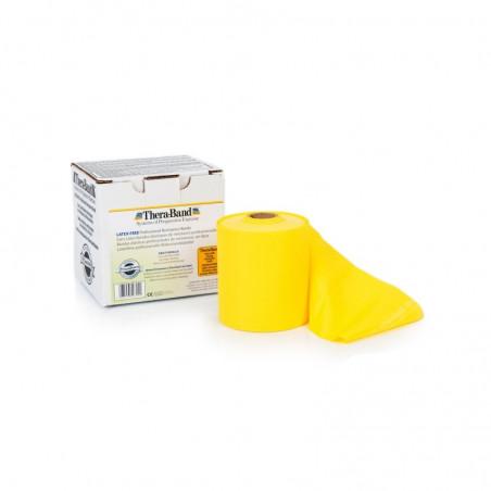 Bezlateksowa taśma rehabilitacyjna - opór słaby (żółta)