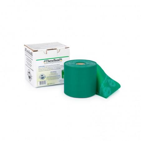 Bezlateksowa taśma rehabilitacyjna - opór mocny (zielona)