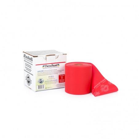 Bezlateksowa taśma rehabilitacyjna - opór średni (czerwona)