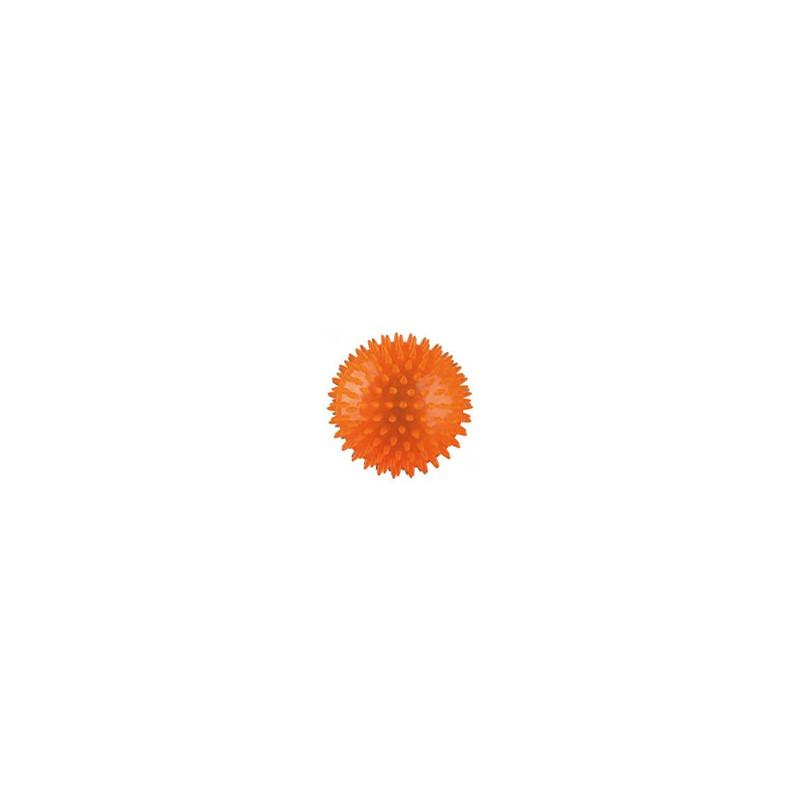 Piłeczka z kolcami - jeż - 6 cm - pomarańczowa