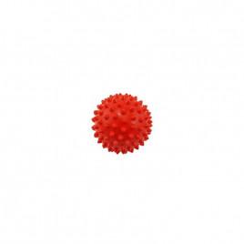 Piłeczka z kolcami - jeż - 9 cm - czerwona