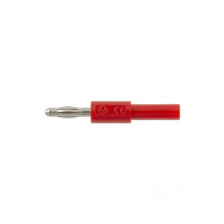 Adapter - przejściówka z 2 mm (gniazdo) na 4 mm (wtyk) - czerwony