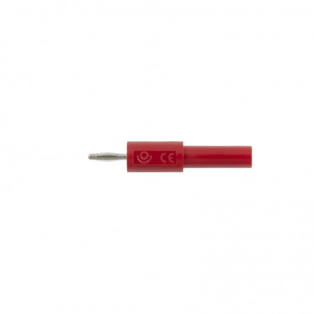 Adapter - przejściówka z 4 mm (gniazdo) na 2 mm (wtyk) - czerwony