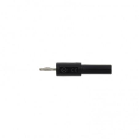 Adapter - przejściówka z 4 mm (gniazdo) na 2 mm (wtyk) - czarny