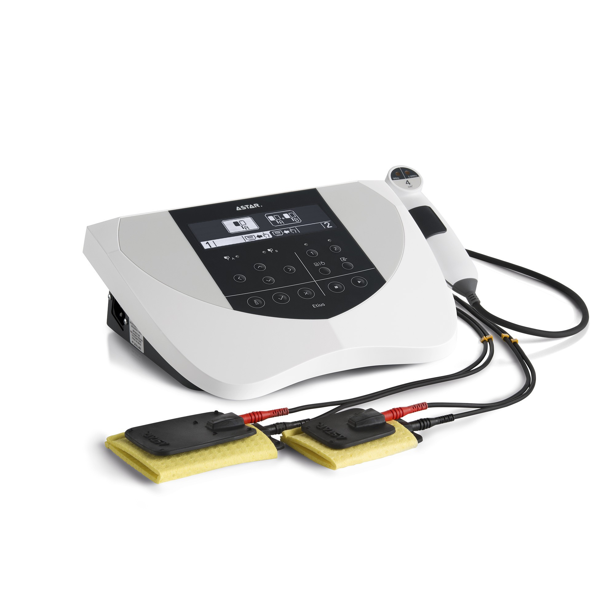 Etius U Vet dwukanałowy aparat do elektroterapii i ultradźwięków