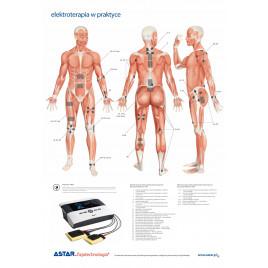 Plansza dydaktyczna elektroterapia w praktyce