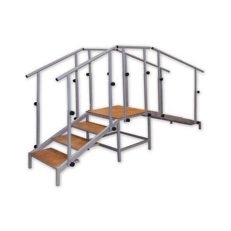 Schody uniwersalne ( jeden bieg schodów i pochylnia) - do nauki chodzenia - SCHR/P