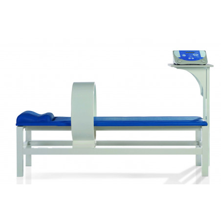 Leżanka do magnetoterapii niebieska wraz z półką